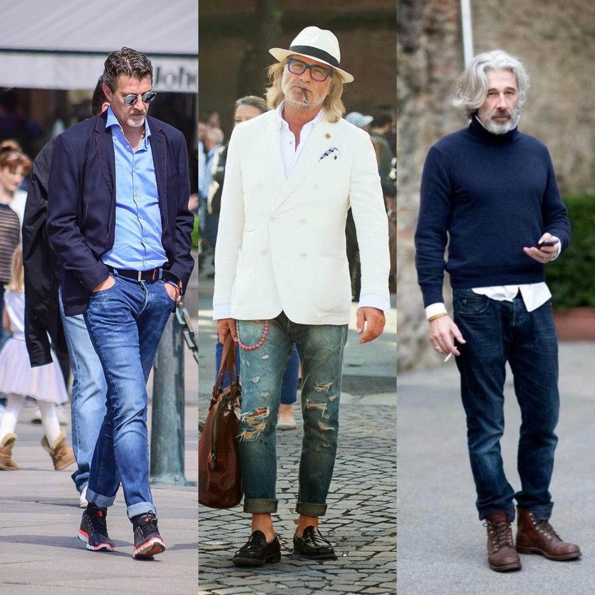Мужская мода 2019 : денимовые луки для всех возрастов