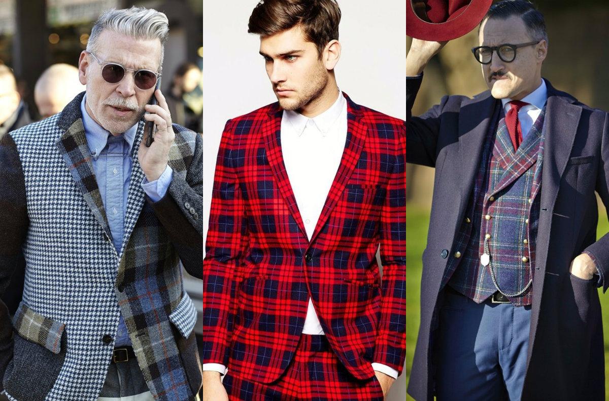 Мужская мода 2019 : клетчатые пиджаки