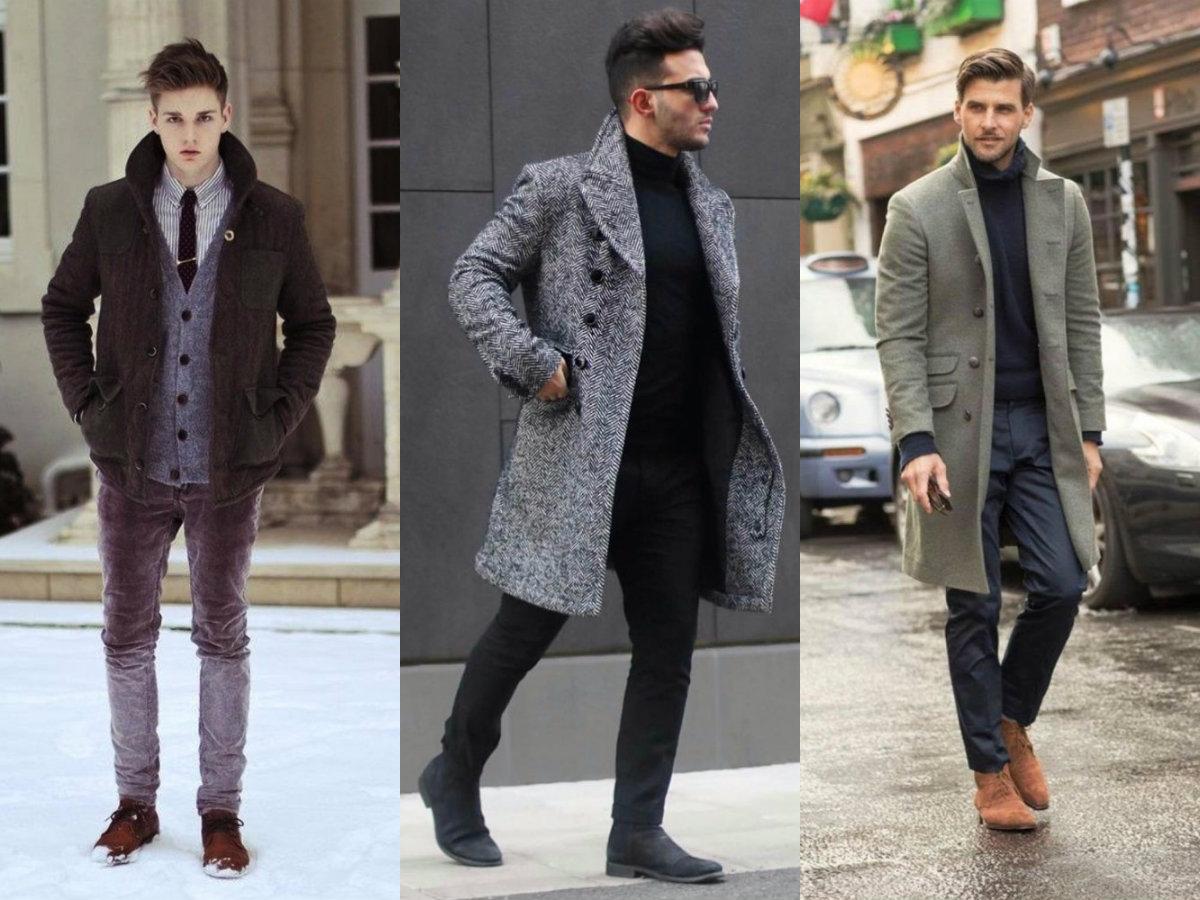Мужская мода 2019 : зимние луку