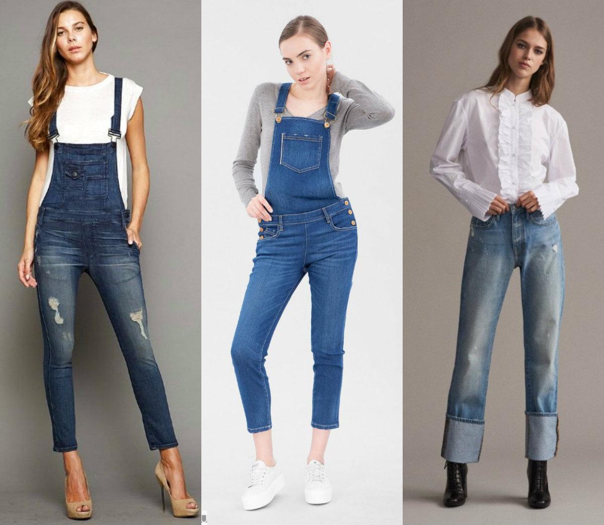 брюки женские 2019: комбинезоны