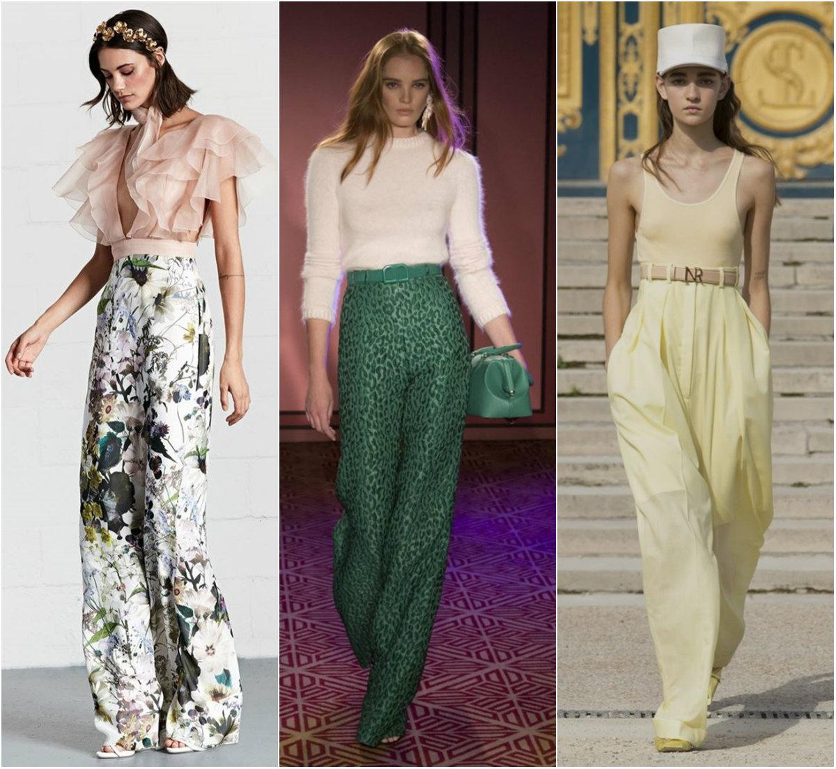 брюки женские 2019: брюки палаццо