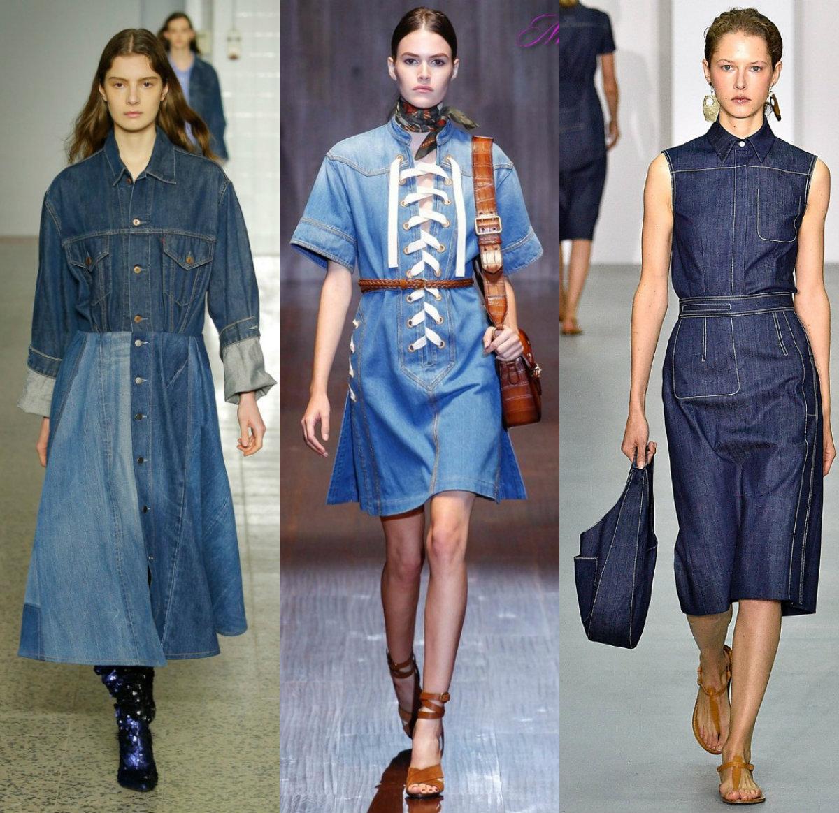 Джинсовые платья 2018: спортивный стиль