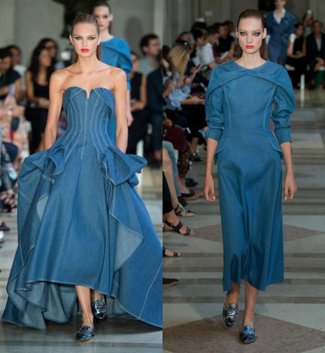 Джинсовые платья 2018: вечерние наряды