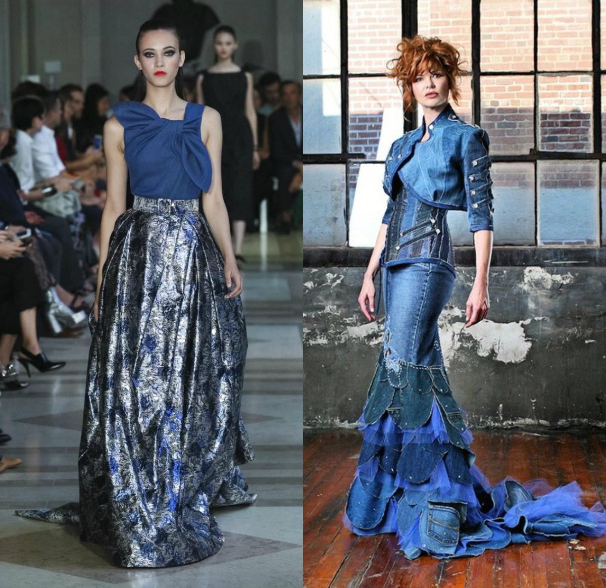 Джинсовые платья 2018: нарядные модели
