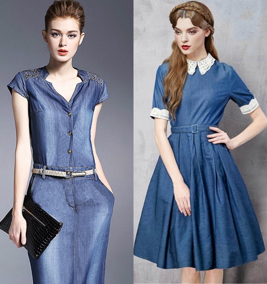 Джинсовые платья 2018: молодежные модели