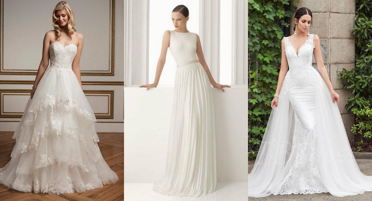 модные тенденции платьев 2018: белоснежные свадебные платья