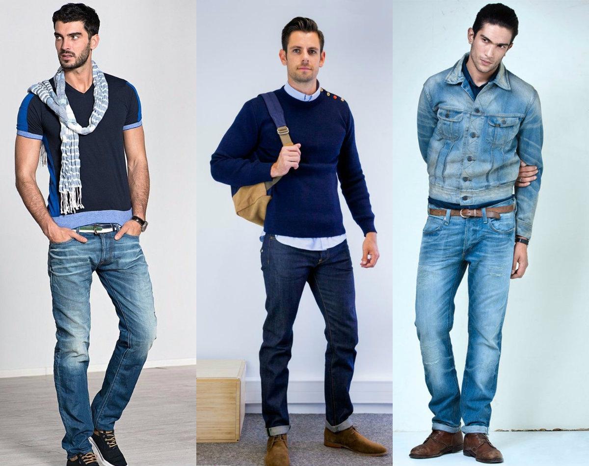 Мужские джинсы 2018: модели для мужчин разного роста