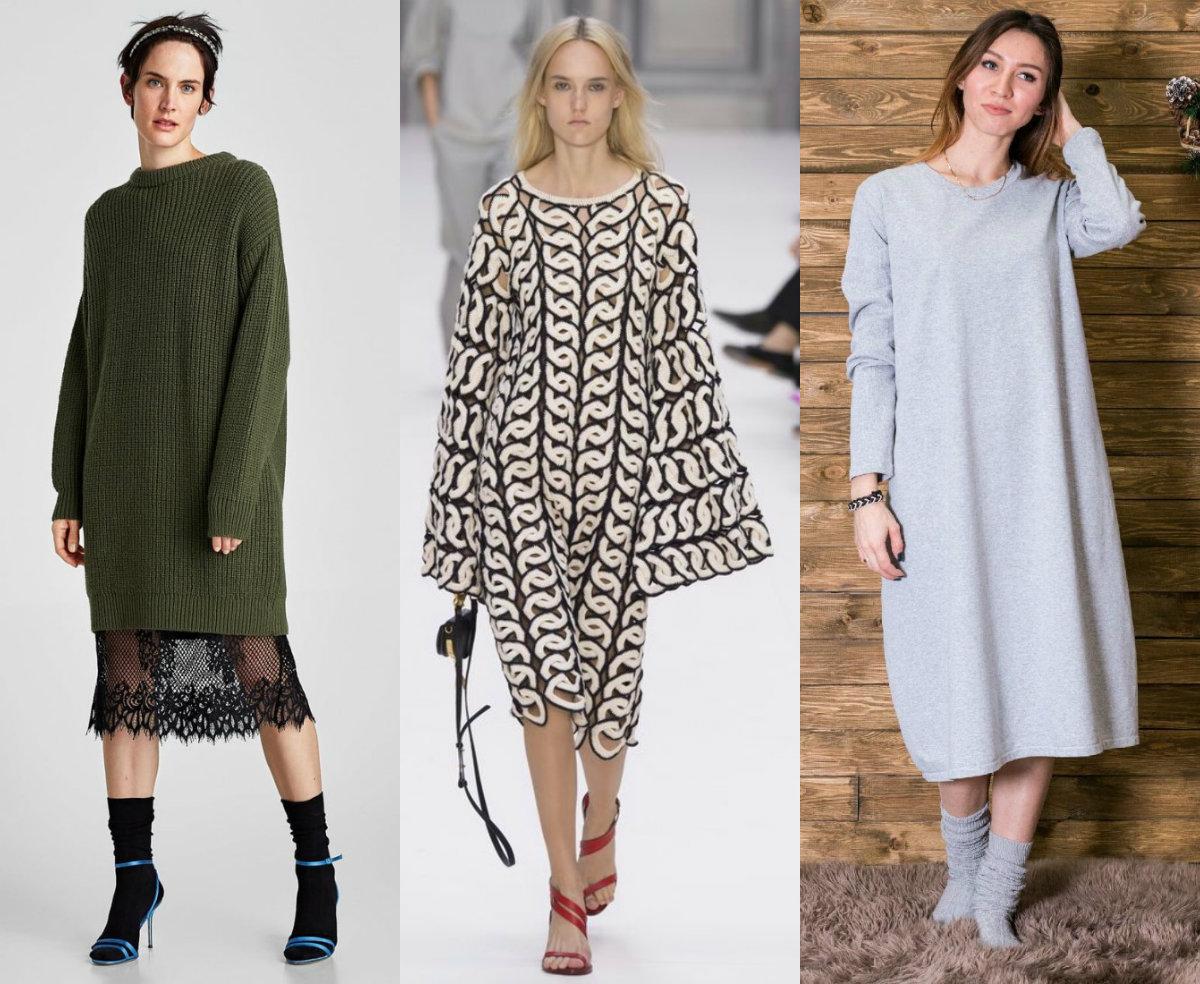 Фасоны платьев 2019: оверсайз